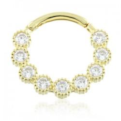 TISH LYON® - Milli Grain Multi Jewelled 9ct Ring