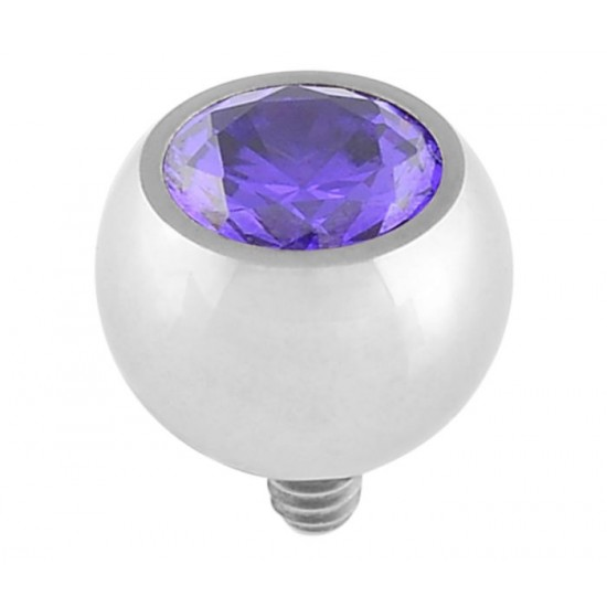 The Halo Collection Midnight Purple CZ Ball