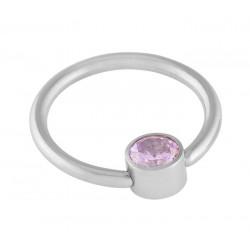 Rose Crystal Disc Captive Rings