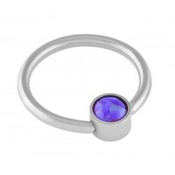 Sleepy Lavender Cabochon Opal Captive Ring