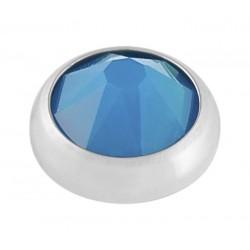 Caribbean Blue Swarovski Crystal Opal